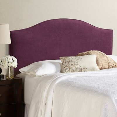 Lesa King Arched Upholstered Headboard in Plum
