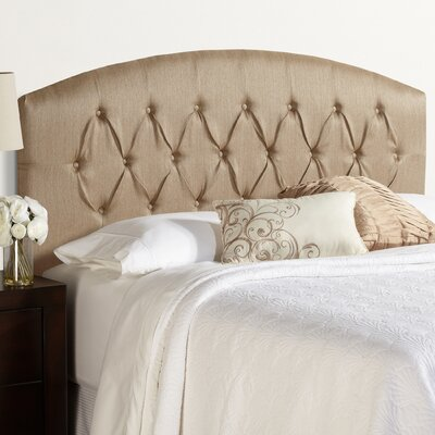 Sherburne Curved Upholstered Headboard with Metal Frames Size: Queen