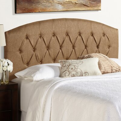 Sherburne Curved Golden Brown Upholstered Headboard Size: Full