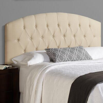 Sherburne 100% Linen Curved Upholstered Headboard Size: Queen, Upholstery: Ivory