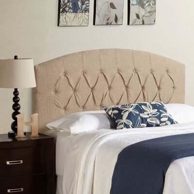 Sherburne Curved Upholstered Headboard Size: Queen, Upholstery: Beige