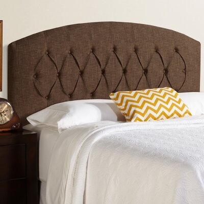 Lesa Curved Upholstered Panel Headboard Size: Queen, Upholstery: Dark Chocolate
