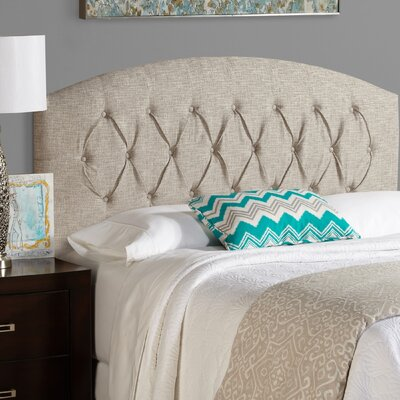 Sherburne Curved Ash Grey Upholstered Headboard Size: King