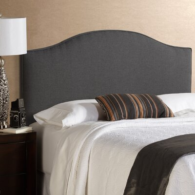 Lesa Charcoal Upholstered Headboard Size: King