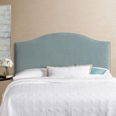 Lesa Upholstered Headboard Size: Queen, Upholstery: Blue Velvet