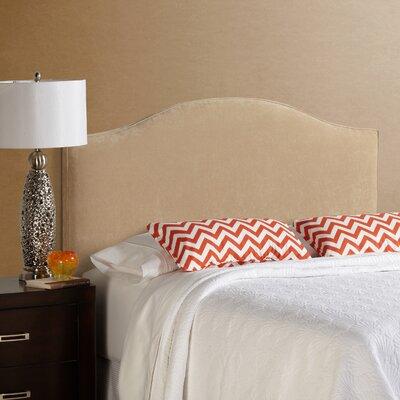 Lesa Upholstered Headboard Size: Full, Upholstery: Sand Velvet