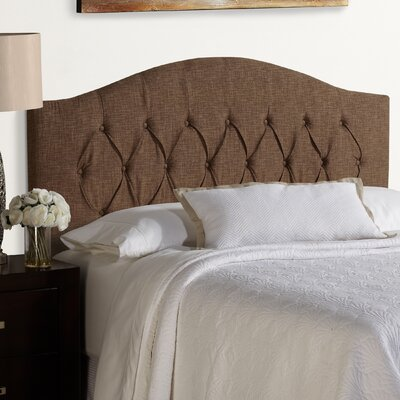 Lesa Upholstered Headboard Size: Full, Upholstery: Dark Chocolate