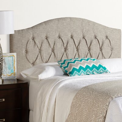 Lesa Upholstered Headboard Size: Queen, Upholstery: Ash Gray