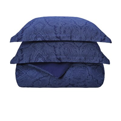 Benton Reversible Duvet Cover Set Size: Full / Queen, Color: Navy Blue