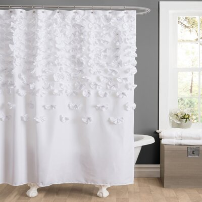 Romain Shower Curtain Color: White