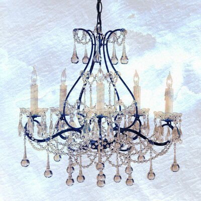 Frosted Chandelier Painting Print on Wrapped Canvas