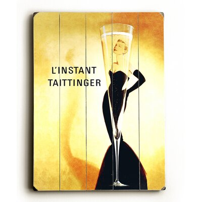 'L'Instant Taittinger Champagne' Vintage Advertisement	 Size: 16