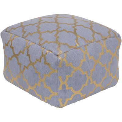 Linklater Pouf Ottoman Upholstery: Denim