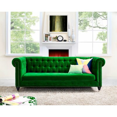 Gertrudes Chesterfield Sofa Upholstery: Shamrock