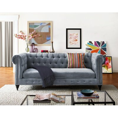 Gertrudes Chesterfield Sofa Upholstery: Gray