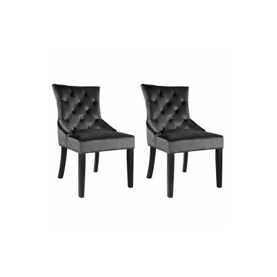 Leibowitz Side Chair Color: Dark Grey