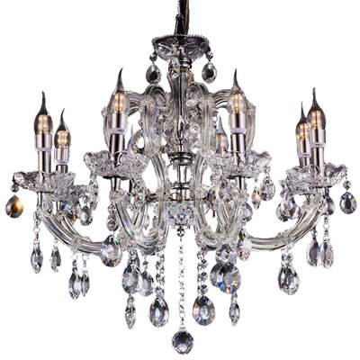 Carmine 8-Light Crystal Chandelier