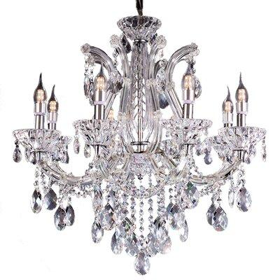 Almandine 8 Light Crystal Chandelier