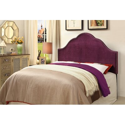 Haylee Upholstered Panel Headboard Size: King, Upholstery: Plum