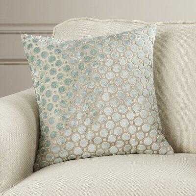 Alton Geometric Velvet Throw Pillow Color: Mineral, Size: 18