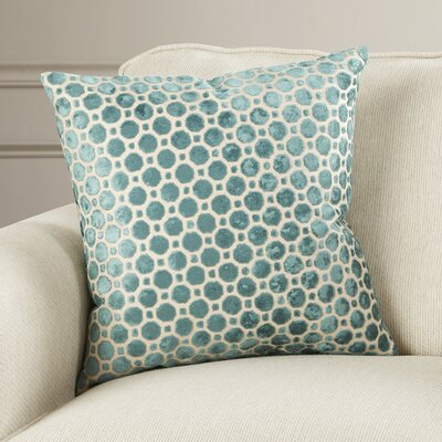 Alton Geometric Velvet Throw Pillow Color: Turquoise, Size: 18 H x 18 W
