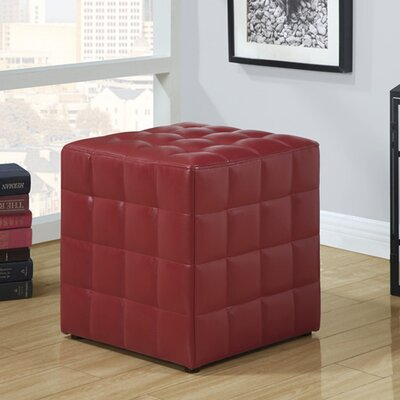 Hendrix Cube Ottoman Upholstery: Red