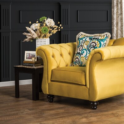 Winsford Premium Armchair Color: Royal Yellow