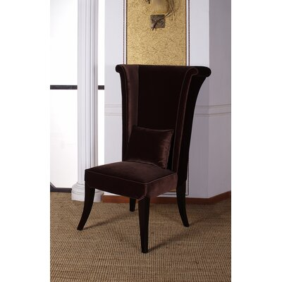 Dampicourt Wingback Chair Upholstery: Brown