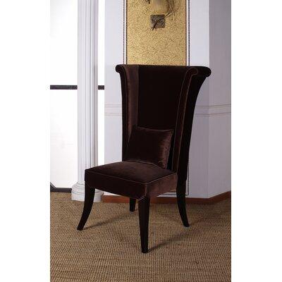 Dampicourt Parsons Chair Color: Brown