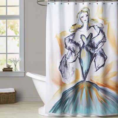 Darien Glamour in the Tropics Shower Curtain