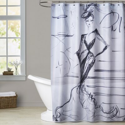 Darby A Night in Paris Shower Curtain