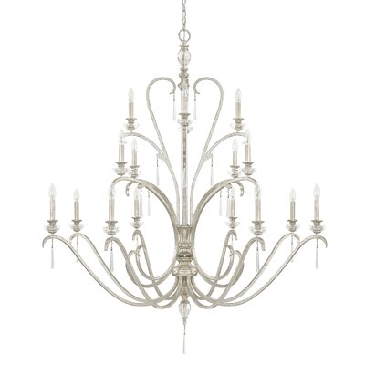 McCarey 16-Light Candle-Style Chandelier