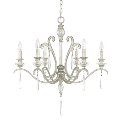 McCarey 6-Light Candle-Style Chandelier