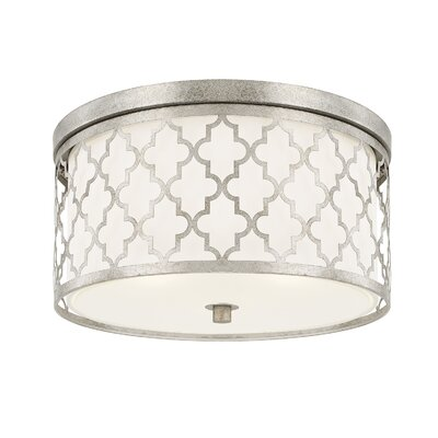 Nigel 3-Light Flush Mount Finish: Antique Silver