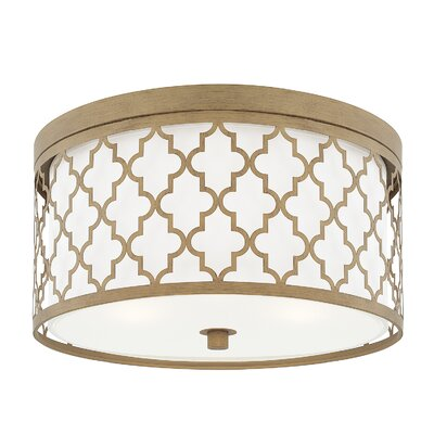 Reidar 3-Light Traditional Flush Mount Finish: Brushed Gold