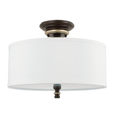 Mann 3-Light Semi-Flush Mount