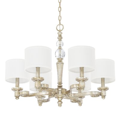 Quartz 6-Light Drum Chandelier