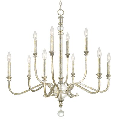 McFarland 10-Light Candle-Style Chandelier