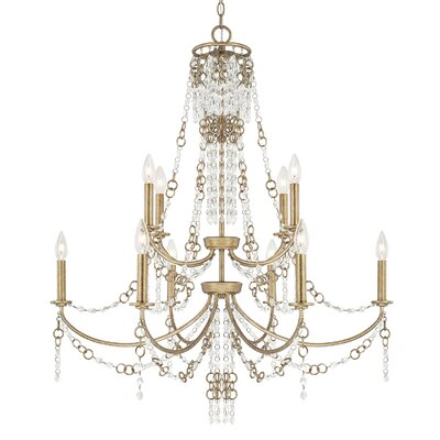 Marc 10-Light Crystal Chandelier