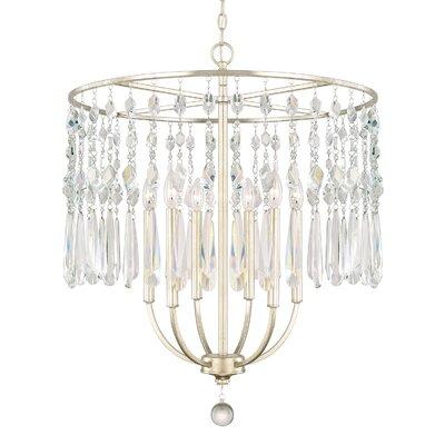 Nolan 6-Light Crystal Chandelier Size: 30.25 H x 26 W x 26 D