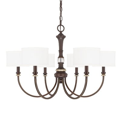 Lenita 6-Light Drum Chandelier Size: 20 H x 30 W x 30 D