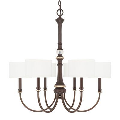 Lenita 6-Light Drum Chandelier Size: 30 H x 30 W x 30 D