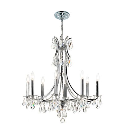 Platinum 8-Light Crystal Chandelier
