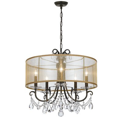 Roesler 5-Light Drum Chandelier