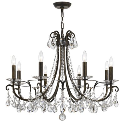 Roesler 8-Light Crystal Chandelier Finish: English Bronze Steel