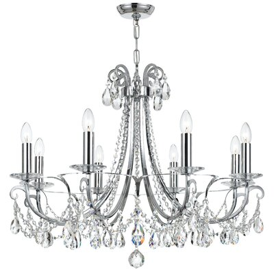 Portman 8-Light Crystal Chandelier Finish: Polished Chrome Steel