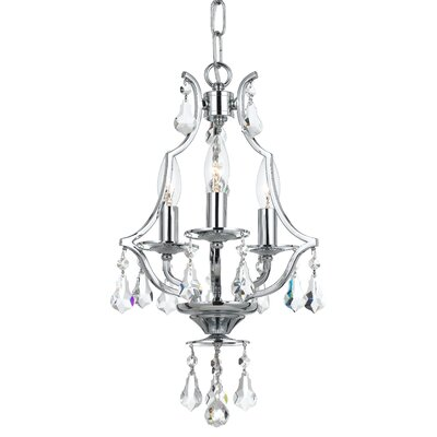 Platinum 3-Light Crystal Chandelier