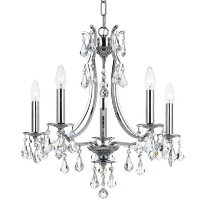 Platinum 5-Light Crystal Chandelier