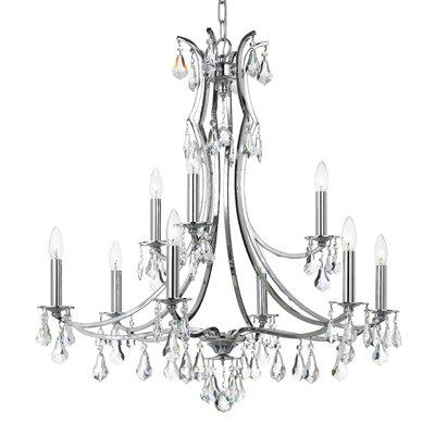 Platinum 9-Light Crystal Chandelier
