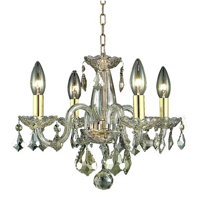 Carmen 4-Light Crystal Chandelier Finish / Crystal Color: Golden Shadow / Golden Shadow (Champagne)